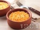 Рецепта Мляко с ориз и жълтъци в глинени съдове на фурна